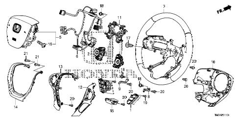 Honda online store : 2017 ridgeline steering wheel (srs) parts