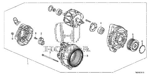 Honda online store : 2017 ridgeline alternator (denso) parts