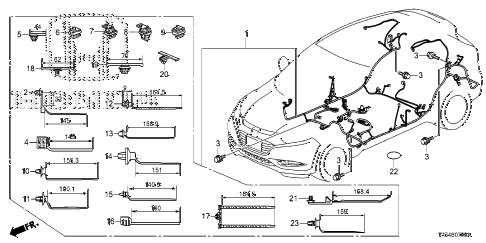 Honda online store : 2016 hr wire harness (4) parts