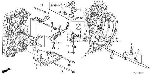 Honda online store : 2008 accord at shift fork (l4) parts