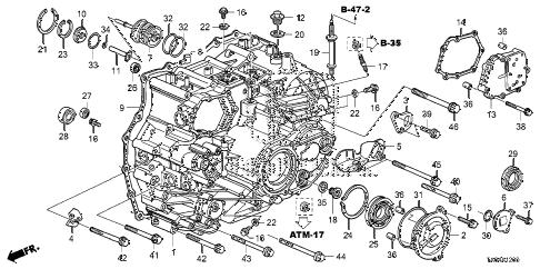 Honda online store : 2011 accord at transmission case (v6
