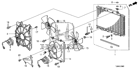 Honda online store : 2009 accord radiator (denso) (v6) parts