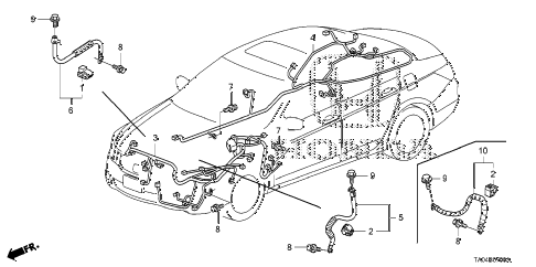 Honda online store : 2008 accord wire harness (1) parts