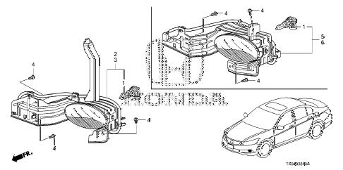 Honda online store : 2010 accord foglight parts