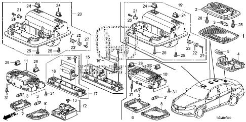 Honda Accord Interior Parts Diagram