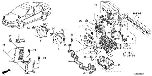 Honda online store : 2010 accord control unit (engine room