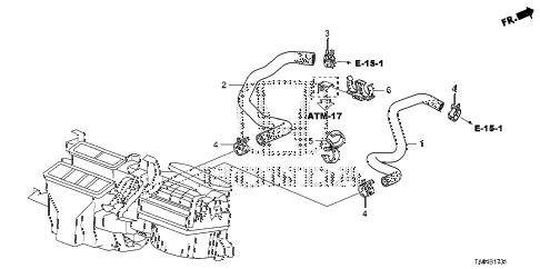 Honda online store : 2010 accord water hose (v6) parts