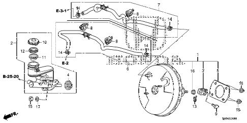 Honda online store : 2008 accord brake master cylinder
