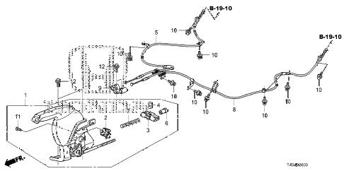 Honda online store : 2008 accord parking brake parts