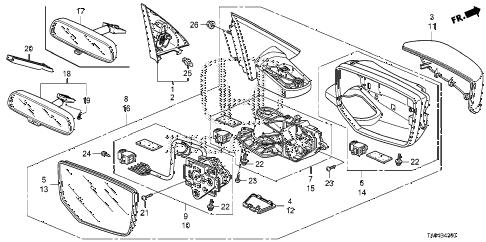 Honda online store : 2011 accord mirror parts