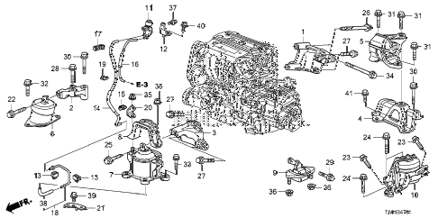 2008 Honda Accord Engine Diagram. Honda. Auto Parts