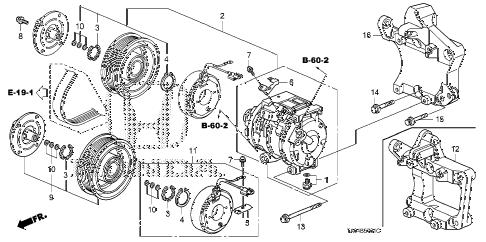 Honda online store : 2010 accord a/c compressor (v6) parts
