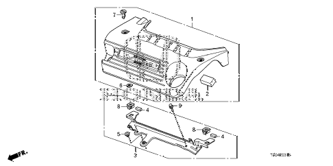 Honda online store : 2009 accord engine cover (v6) parts