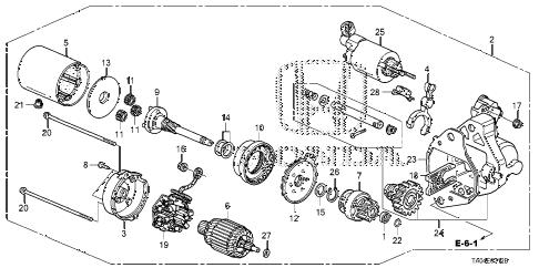 Honda online store : 2010 accord starter motor (denso) (v6