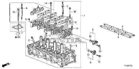 Honda online store : 2008 accord cylinder head (l4) parts