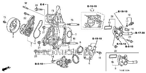 Honda online store : 2008 accord water pump (l4) parts