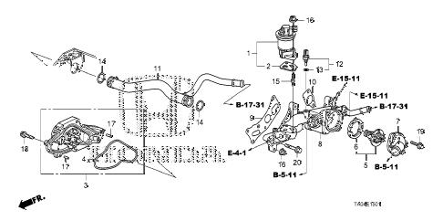 Honda online store : 2009 accord water pump (v6) parts