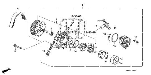 Honda online store : 2008 accord p.s. pump (l4) parts