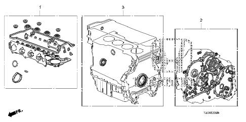 Honda online store : 2009 accord gasket kit (l4) parts