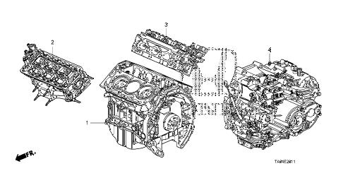 Honda online store : 2009 accord engine assy