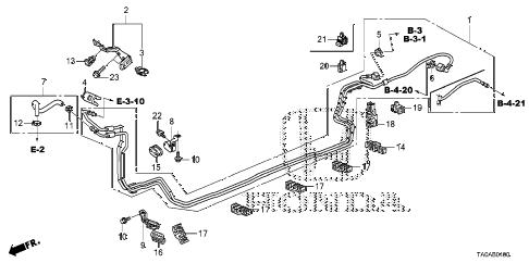 Honda online store : 2012 accord fuel pipe (l4) parts