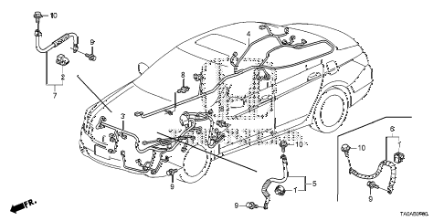 Honda online store : 2012 accord wire harness (1) parts