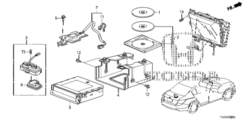 Honda online store : 2012 accord navigation system parts