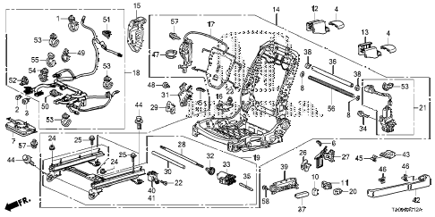 Honda online store : 2012 accord front seat components (l