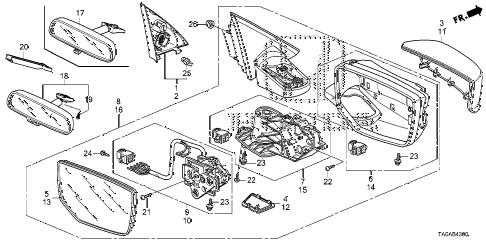 Honda online store : 2012 accord mirror parts