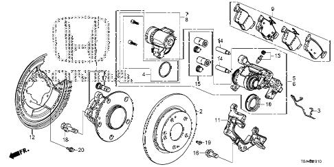 Honda online store : 2016 civic rear brake parts