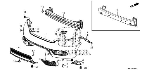 Honda online store : 2016 civic rear bumper (1) parts