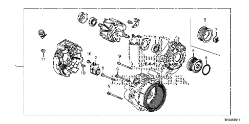 Honda online store : 2016 civic alternator (denso) (2.0l