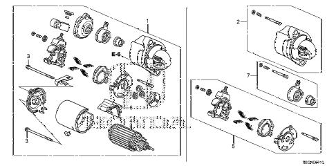 Honda online store : 2016 civic starter motor (mitsuba) (1