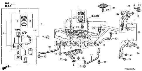 Honda online store : 2008 accord fuel tank parts