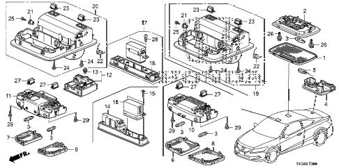 Honda online store : 2008 accord interior light parts