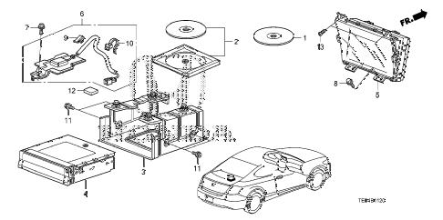 Honda online store : 2008 accord navigation system parts
