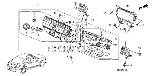 Honda online store : 2008 accord audio unit parts