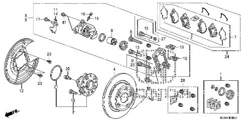 Honda online store : 2010 accord rear brake parts