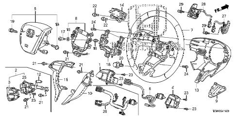 Honda online store : 2010 accord steering wheel (srs) parts