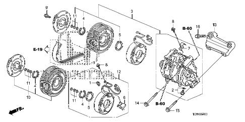 Honda online store : 2008 accord a/c compressor (l4) parts