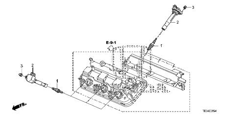 Honda online store : 2010 accord plug hole coil (v6) parts