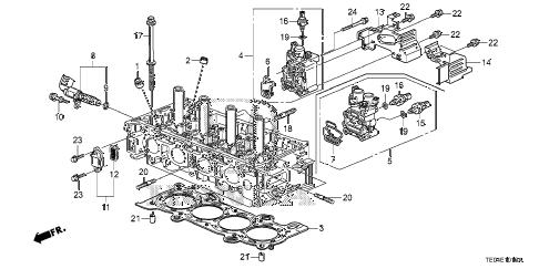 Honda online store : 2008 accord spool valve (l4) parts