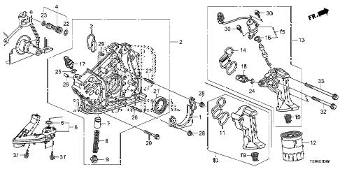 Honda online store : 2008 accord oil pump (v6) parts