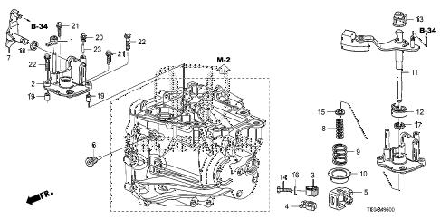 Honda online store : 2009 accord mt shift lever (l4) parts