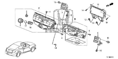 Honda online store : 2012 accord audio unit parts
