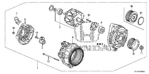 Honda online store : 2012 accord alternator (denso) (v6) parts