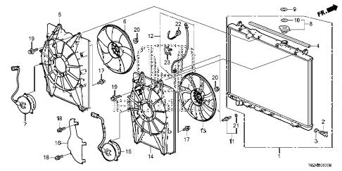 Honda online store : 2016 pilot radiator parts
