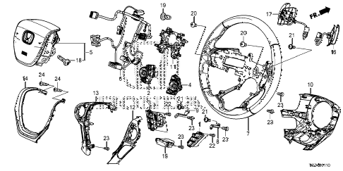 Honda online store : 2018 pilot steering wheel (-'18) parts