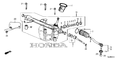 Honda online store : 2018 pilot steering gear box parts