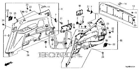 Honda online store : 2016 pilot side lining parts
